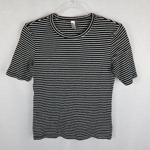 American Apparel shirt striped crew neck tee L